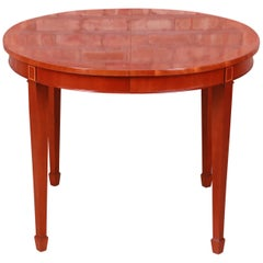 Kindel Furniture Federal Style Banded Mahogany Extension Dining or Game Table