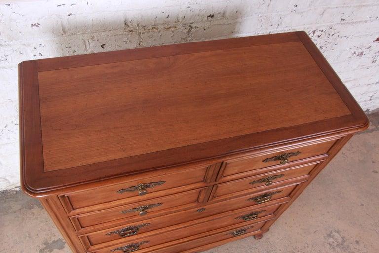 Cherry Kindel Furniture French Provincial Highboy Dresser
