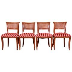 Kindel Furniture Regency Cane Back Dining Chairs, Set of Four