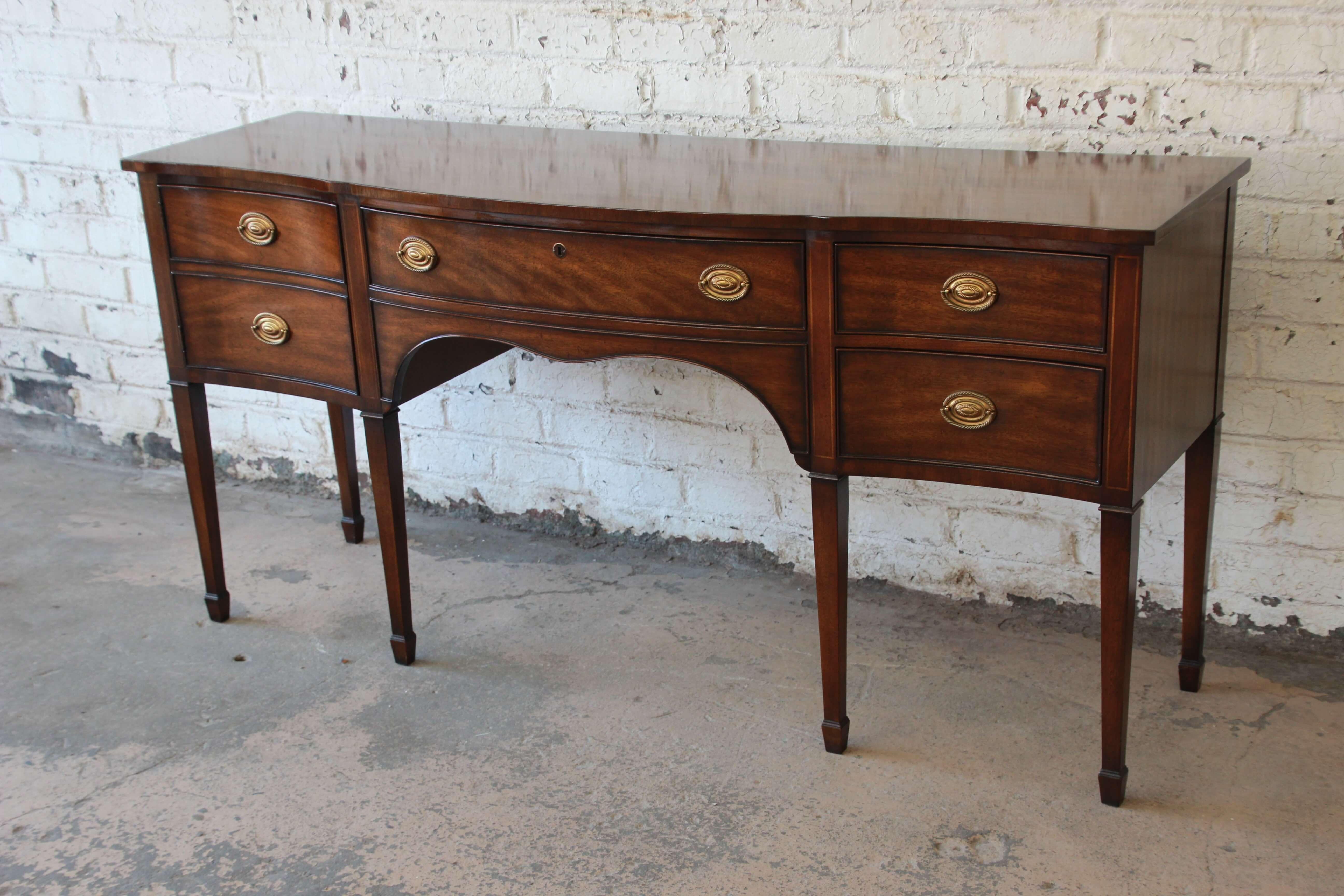 Kindel Furniture Windermere Hepplewhite Style Mahogany Sideboard Credenza