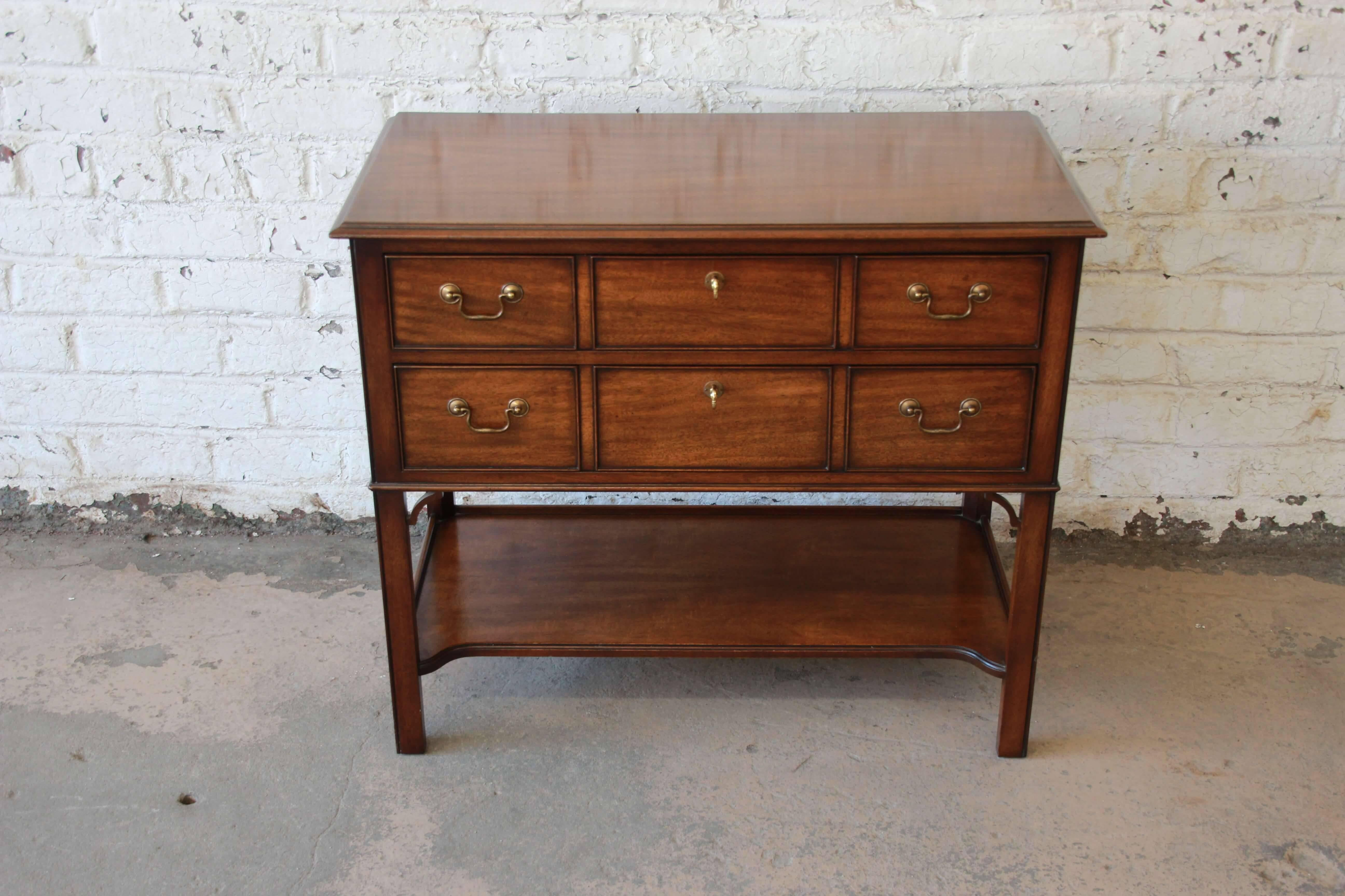 Offering A Very Nice Kindel Furniture Sideboard Server. The Server Has A  Moderate Asian Style