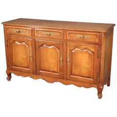 Kindel Solid Cherry French Louis XV Style Sideboard Server Buffet, circa 1960
