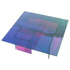Kinetic Colors Glass Table by Brajak Vitberg