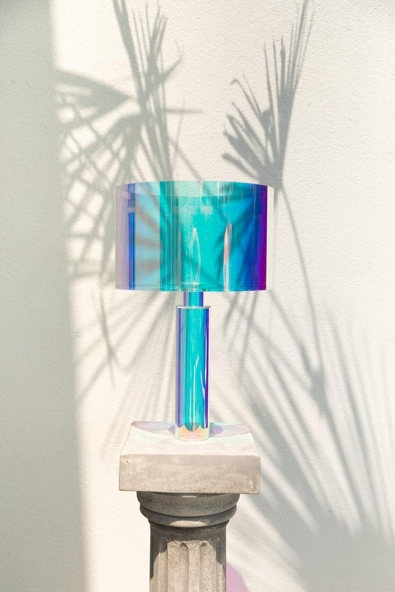 Contemporary Kinetic Colors Table Lamp by Brajak Vitberg
