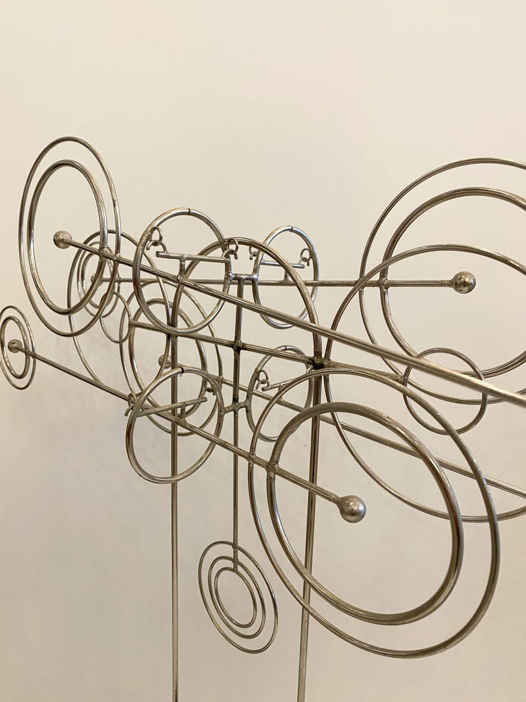 American Kinetic Metal Sculpture by Joseph A. Burlini For Sale