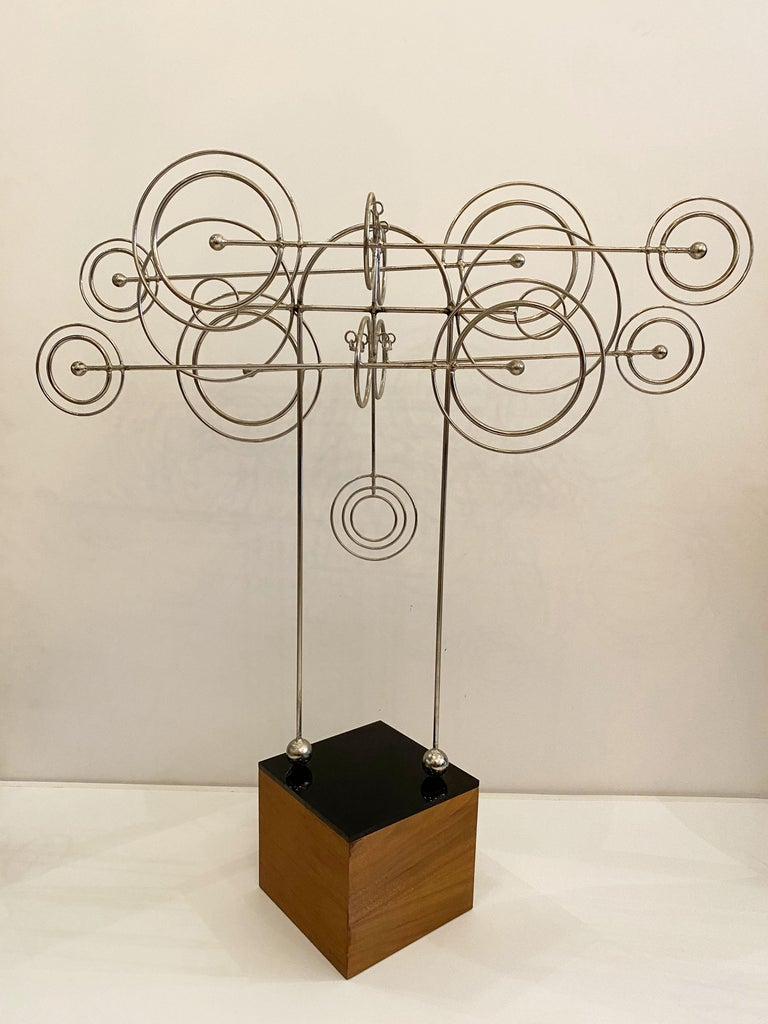 Late 20th Century Kinetic Metal Sculpture by Joseph A. Burlini For Sale