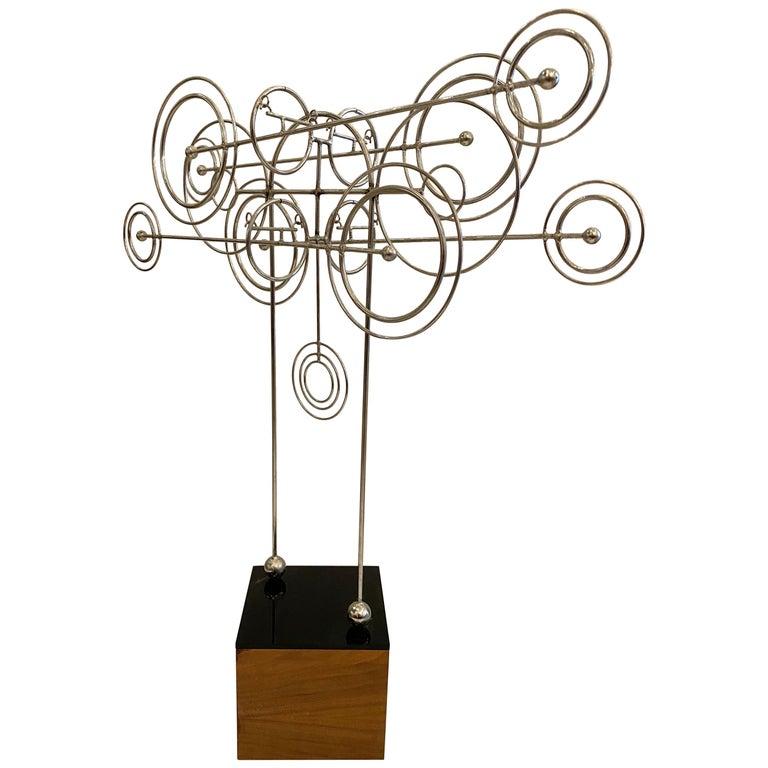 Kinetic Metal Sculpture by Joseph A. Burlini For Sale