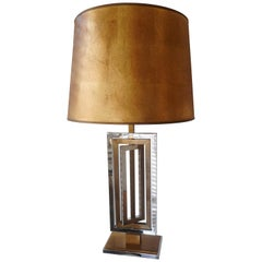Kinetic Metal Table lamp by Maison Jansen, France, 1970