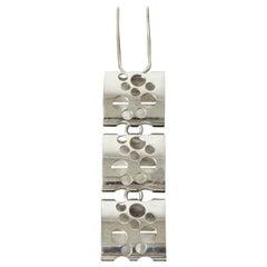 Kinetic Silver Necklace by Elis Kauppi for Kupittan Kulta, Finland, 1960s