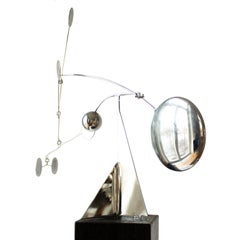 Kinetic Stabile Mobile Sculpture Signed by Francois Collette from 1976
