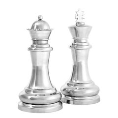 King and Queen Chess Piece Sculptures