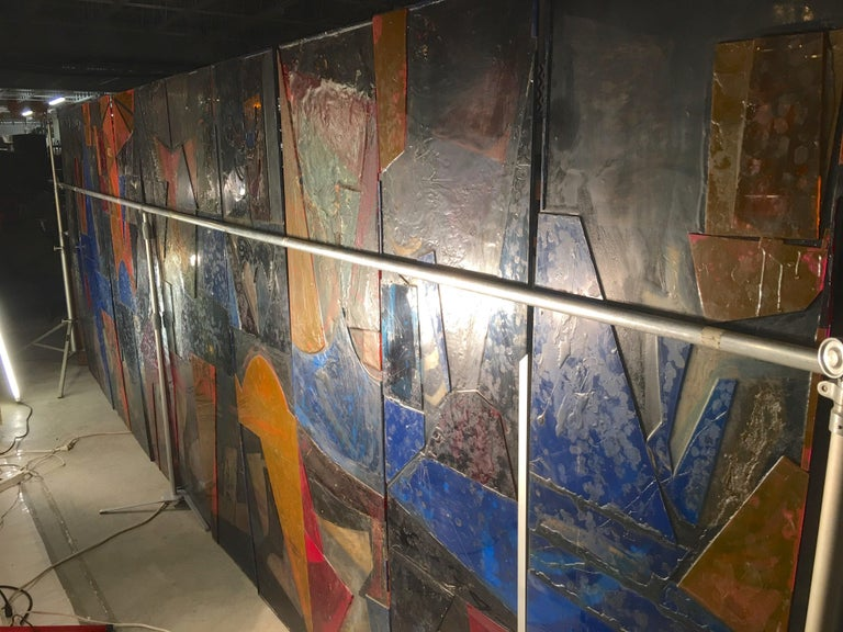 King Arthur Mural (16' x 6') by Peter Ostuni for Savoy-Plaza Hotel 1951 For Sale 6