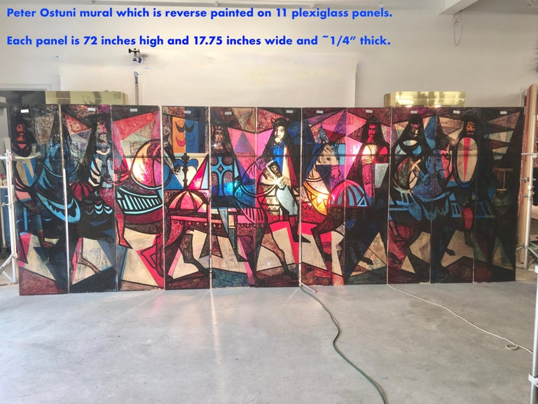 King Arthur Mural (16' x 6') by Peter Ostuni for Savoy-Plaza Hotel 1951 For Sale 5