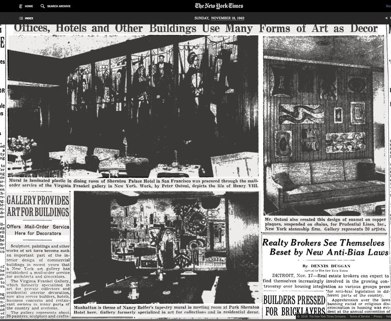 King Arthur Mural (16' x 6') by Peter Ostuni for Savoy-Plaza Hotel 1951 For Sale 13