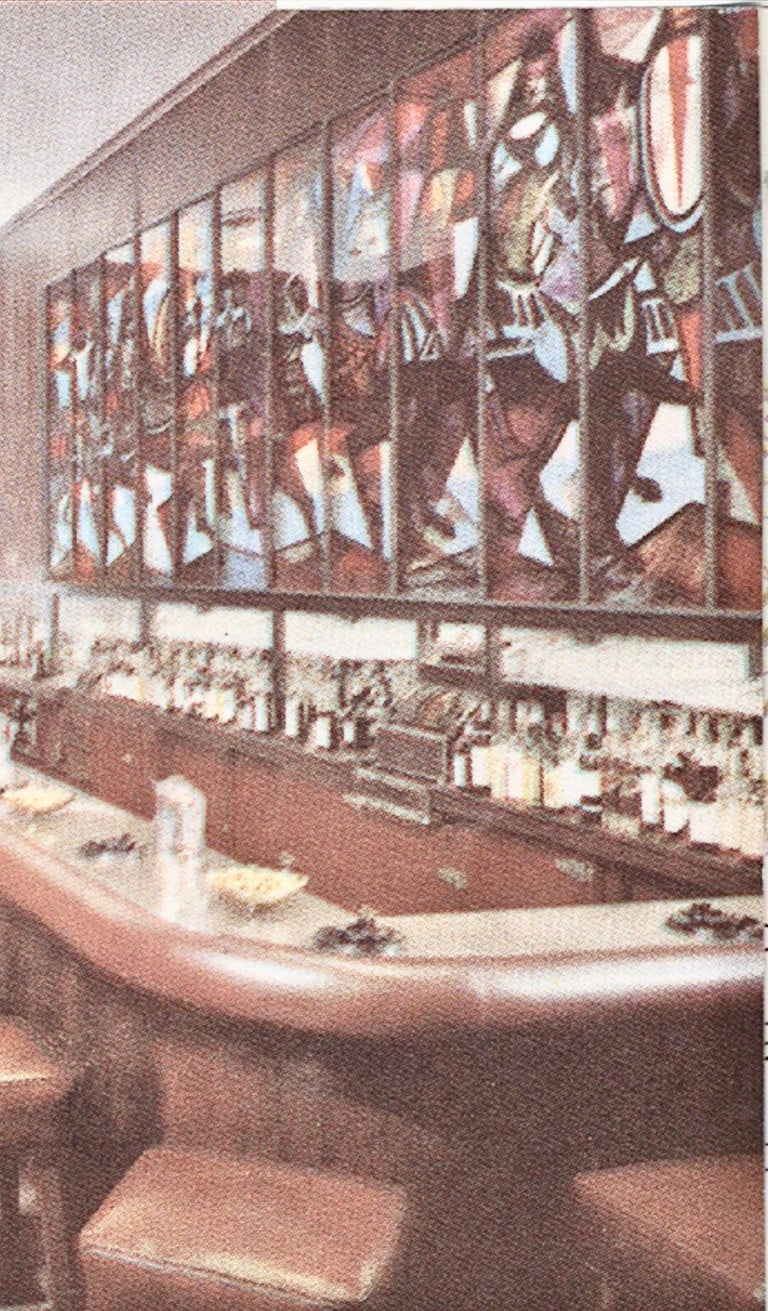 King Arthur Mural (16' x 6') by Peter Ostuni for Savoy-Plaza Hotel 1951 For Sale 1