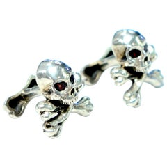 King Baby Cufflinks Red Stone Eyes