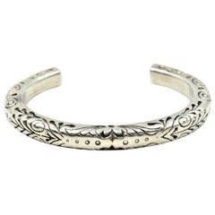 King Baby Leaf Sterling Silver Cuff Bracelet