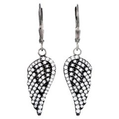 King Baby Sterling Silver and Cubic Zirconia Wing Earrings