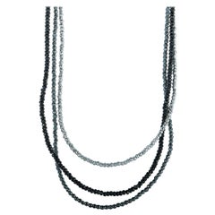 King Baby Sterling Silver and Spinel Multistrand Necklace