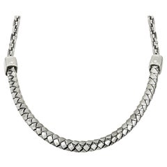 King Baby Sterling Silver Braided Choker Necklace