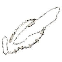 King Baby Sterling Silver Cross Chain Bracelet