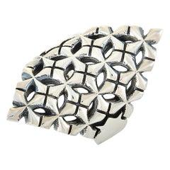 King Baby Sterling Silver Cross Shield Ring