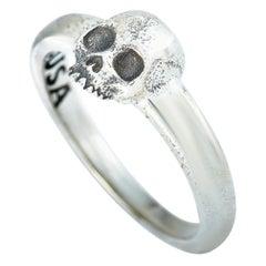 King Baby Sterling Silver Hamlet Skull Ring