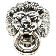 King Baby Sterling Silver Lion Ring