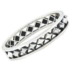 King Baby Sterling Silver Pyramid Bangle Bracelet
