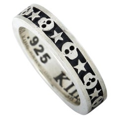 King Baby Sterling Silver Skull and Star Stackable Ring