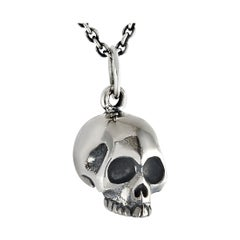 King Baby Sterling Silver Skull Pendant Necklace