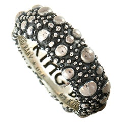 King Baby Sterling Silver Stingray Texture Ring