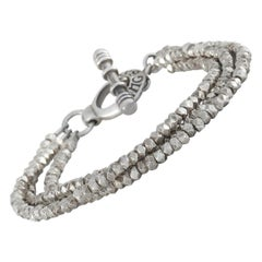 King Baby Sterling Silver Three-Strand Bracelet