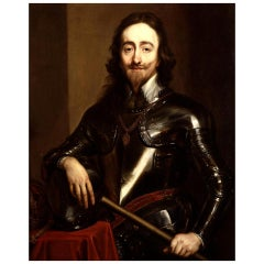King Charles I Antique 17th Century Locks of Hair from His Execution