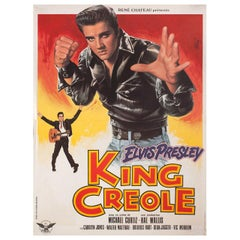 'King Creole' R1978 French Petite Film Poster