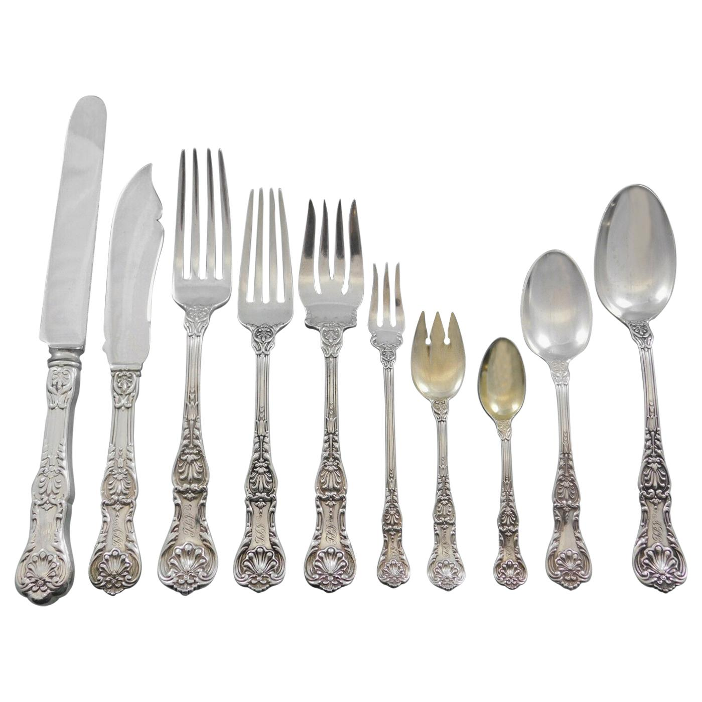 King George by Gorham Sterling Silver Flatware Set for 8 Service 85 Pcs Dinner