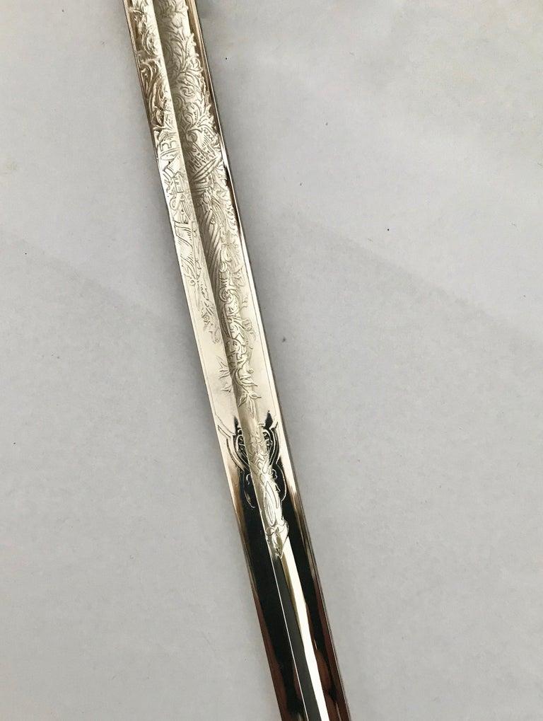 King Håkon VII of Norway Sabre Sword For Sale 7