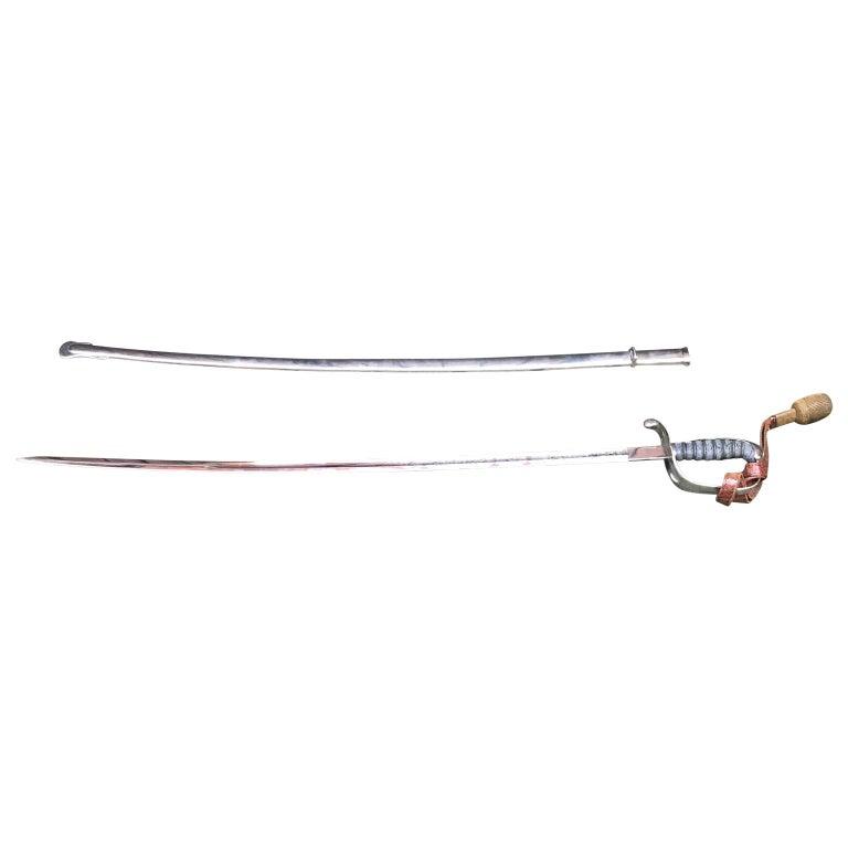 Plated King Håkon VII of Norway Sabre Sword For Sale