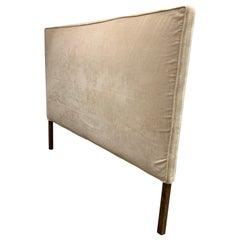 King Headboard Upholstered in Cream or Champagne Velvet