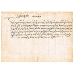 King Henry VIII genuine original autographed document from 1513
