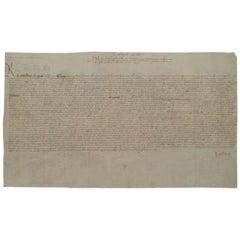 King Henry VIII Genuine Original 16th Century Signed Petition on Vellum, White