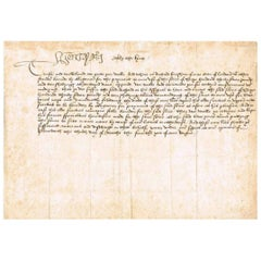 King Henry VIII Genuine Original Autographed Vellum Document from 1513, White