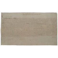 King Henry VIII genuine original 16th century signed petition