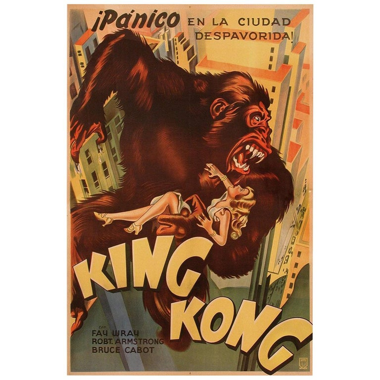 """""""King Kong"""" 1933 Film Poster For Sale"""