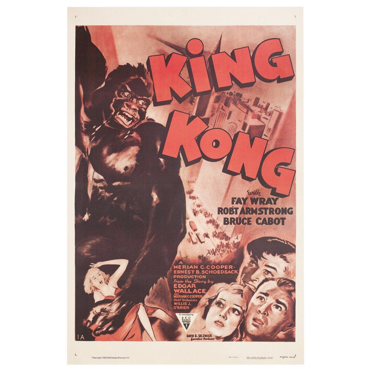King Kong R1952 U.S. One Sheet Film Poster