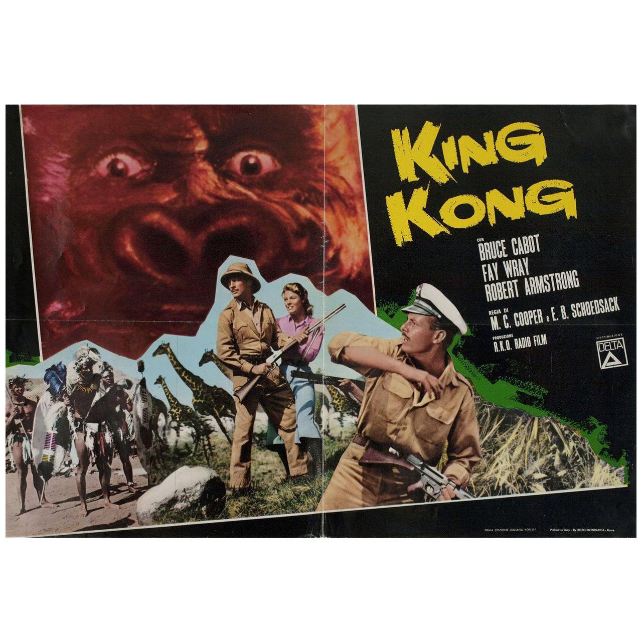 """King Kong"" R1966 Italian Fotobusta Film Poster"