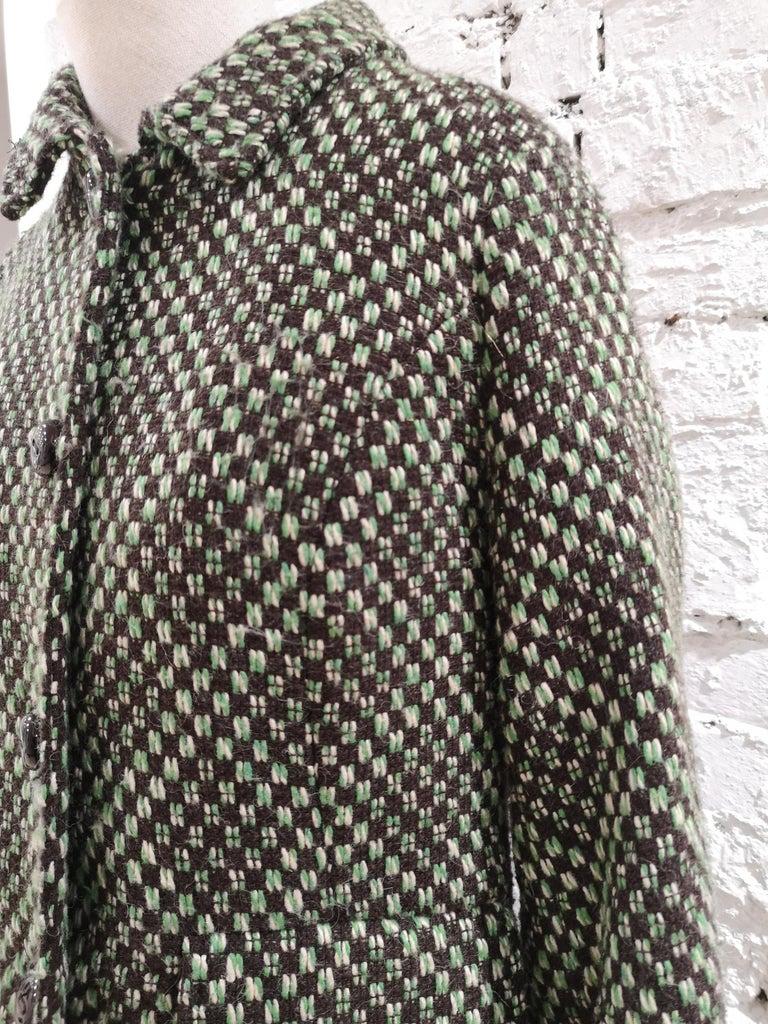 King Louie green wool coat For Sale 5
