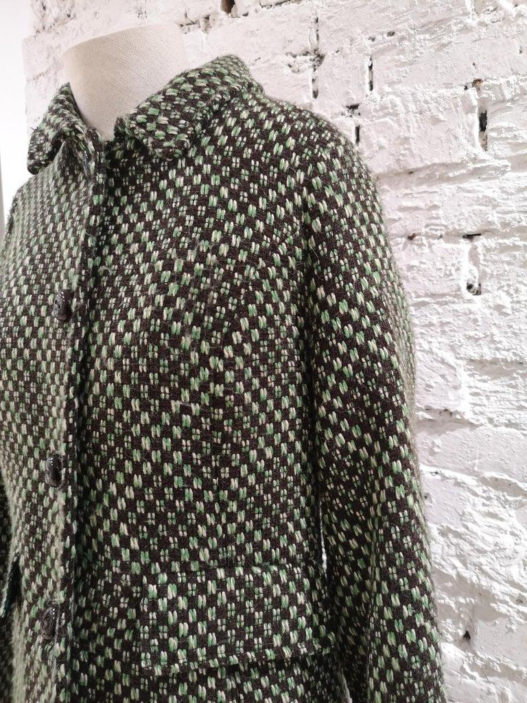 King Louie green wool coat For Sale 6