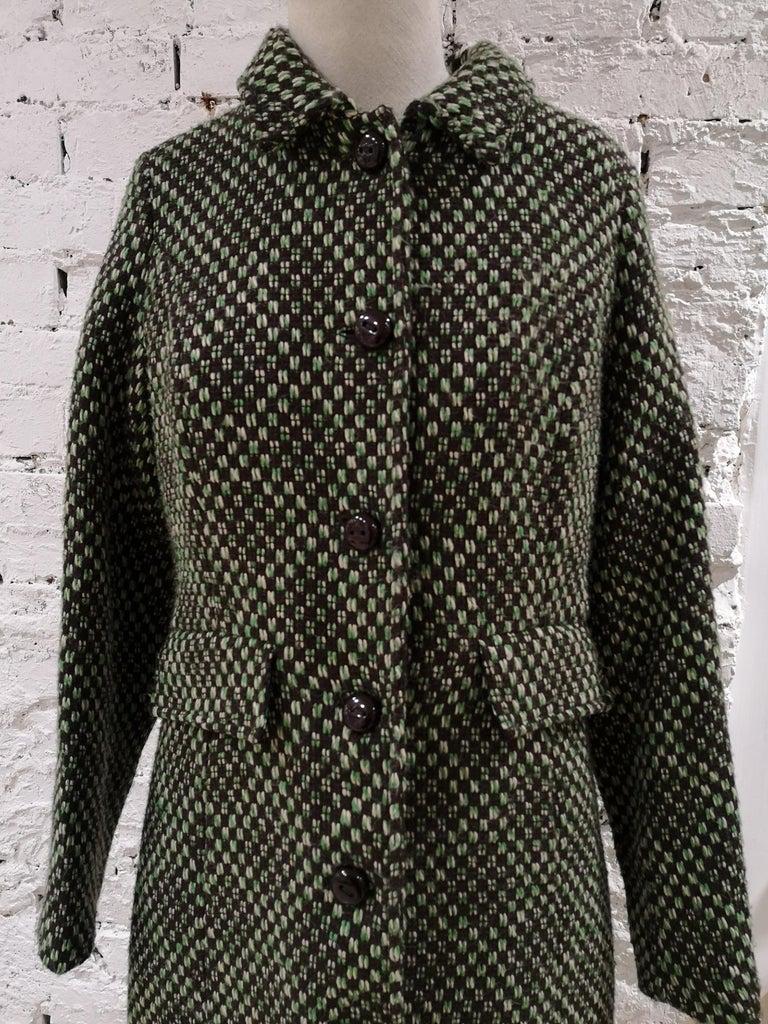 King Louie green wool coat For Sale 7
