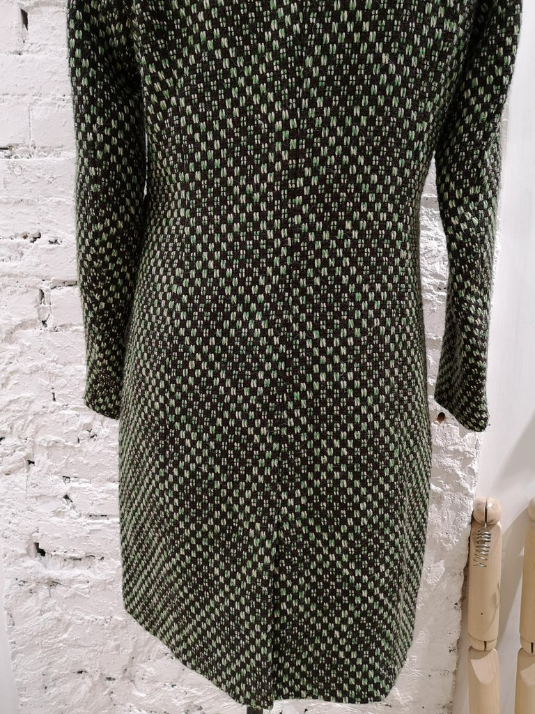 Black King Louie green wool coat For Sale